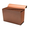 "Sparco Flap Close A-Z Heavy-duty Accordion File - Legal - 8 1/2"" x 14"" Sheet Size - 21 Pocket(s) - Brown - Recycled - 1 Each"