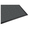 "Genuine Joe Waterguard Mat - Carpeted Floor, Hard Floor, Indoor, Outdoor - 72"" Length x 48"" Width - Rubber, Polypropylene - Charcoal Gray"