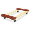 "Sparco Cross Member Dolly - 1000 lb Capacity - 4 Casters - 4"" Caster Size - Wood - 18"" Width x 30"" Depth x 6.1"" Height - Red"