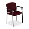 "Pagoda 4070 Series 4071 Stacking Chair - Polyester Wine, Acrylic Seat - Metal Black Frame - Polyester Fabric, Acrylic - 20.25"" Seat Width x 19.75"" Seat Depth - 27.3"" Width x 22.5"" Depth x 33"" Heig"