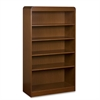 "Lorell 5-Shelves Bookcase - 36"" x 12"" x 60"" - 5 Shelve(s) - Radius Edge - Material: Hardwood, Wood - Finish: Cherry, Veneer"