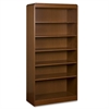 "Lorell 6-Shelves Bookcase - 36"" x 12"" x 72"" - 6 Shelve(s) - Radius Edge - Material: Hardwood, Wood - Finish: Cherry, Veneer"