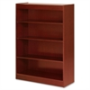 "Lorell Four Shelf Panel Bookcase - 36"" x 12"" x 48"" - 4 Shelve(s) - Material: Veneer, Wood - Finish: Cherry"