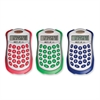 "910 Student Solar Calculator - 8 Digits - Battery/Solar Powered - 0.5"" x 2.3"" x 4.5"" - Assorted - 10 / Each"