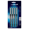 Uni-Ball Vision Rollerball Pens - Micro Point Type - 0.5 mm Point Size - Black - 4 / Pack