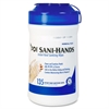 "Sani-Hands ALC Disinfectant Hand Sanitizing Wipe - 6"" x 7.50"" - White - Anti-septic, Anti-bacterial, Non-irritating - For Healthcare - 135 Sheets - 135 / Each"