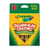 Crayola Triangular Anti-roll Crayons - Assorted - 16 / Box