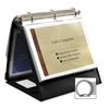 "Lion Insta-Cover Ring Easel Binder - 1 1/2"" Binder Capacity - Letter - 8 1/2"" x 11"" Sheet Size - 3 x Round Ring Fastener(s) - 80 Pocket(s) - Black - Recycled - 1 Each"