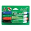 Dry Erase Marke - Chisel Point Style - Black, Red, Blue, Green - 4 / Set