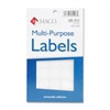 "White Multi-Purpose Labels - Removable Adhesive - 0.75"" Diameter - Circle - White - 1000 / Pack"