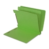 "SJ Paper Recycled End Tab Multi-Folders - 2"" Folder Capacity - Letter - 8 1/2"" x 11"" Sheet Size - 2 1/4"" Expansion - 8 Fastener(s) - 6 Divider(s) - 15 pt. Folder Thickness - Pressboard - Green - Recyc"