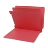 "SJ Paper Recycled End Tab Multi-Folders - 2"" Folder Capacity - Letter - 8 1/2"" x 11"" Sheet Size - 2 1/4"" Expansion - 15 pt. Folder Thickness - Pressboard - Red - Recycled - 25 / Box"