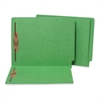 "SJ Paper WaterShed/CutLess End Tab Folder - Letter - 2 Fastener(s) - 2"" Fastener Capacity for Folder - 11 pt. Folder Thickness - Manila - Green - Recycled - 50 / Box"