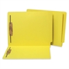 "SJ Paper End Tab Folders with Fastener - Letter - 8 1/2"" x 11"" Sheet Size - 2 Fastener(s) - 2"" Fastener Capacity for Folder - 11 pt. Folder Thickness - Manila - Yellow - Recycled - 50 / Box"