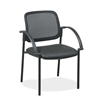 "Lorell Guest Chair - Faux Leather Black Seat - Black - 24"" Width x 23.5"" Depth x 32.8"" Height"