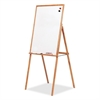 "Presentation Easel - 27.8"" (2.3 ft) Width x 39.8"" (3.3 ft) Height - Oak Frame - Rectangle - Assembly Required - 1 Each"