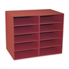 "Pacon Ten Shelf Organizer - 17"" Height x 12.9"" Width x 21"" Depth - Recycled - Red - 1Each"