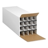 "Safco Compact KD Roll File - External Dimensions: 12.8"" Width x 37"" Depth x 12.5"" Height - 16 x Tube - Fiberboard - White - For Rolled Document - 1 Each"