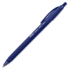 Integra Triangular Barrel Retractable Ballpnt Pens - Medium Point Type - Blue - Blue Plastic Barrel - 1 Dozen