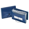 "Pendaflex 7 Pocket Poly Expanding File - Letter - 8 1/2"" x 11"" Sheet Size - 7 Pocket(s) - Polypropylene - Blue - 1 Each"