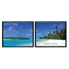 "Advantus Success Panorama Framed Prints Pack - 30"" Width x 24"" Height - Black Frame"