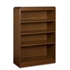 "Lorell Radius Veneer Bookcase - 36"" x 12"" x 48"" - 4 x Shelf(ves) - 198 lb Load Capacity - Cherry - Veneer, Laminate - Hardwood, Wood - Assembly Required"
