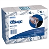 "Kleenex Multi-Fold Hand Towel - 1 Ply - 9.40"" x 9.20"" - Blue, White - Soft, Absorbent - 150 Sheets Per Bundle - 600 / Pack"
