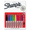 Mini Permanent Markers - Fine Point Type - Point Point Style - Assorted - 8 / Set