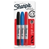 Sharpie Super Twin Permanent Marker - Fine Point Type - Chisel Point Style - Assorted - 3 / Set