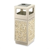 "Safco Canmeleon Waste Receptacle Ash/Urn Side Open - 15 gal Capacity - Square - 32.8"" Height x 13.8"" Width x 13.8"" Depth - Polyethylene - Tan"