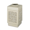 "Safco Open Top Square 38-Gallon Receptacle - 38 gal Capacity - Square - 31.5"" Height x 18.3"" Width x 18.3"" Depth - Stone, Plastic - Tan"
