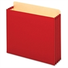 "Globe-Weis Heavy-duty File Cabinet Pocket - Letter - 8 1/2"" x 11"" Sheet Size - 875 Sheet Capacity - 3 1/2"" Expansion - 22 pt. Folder Thickness - Tyvek - Red - 10 / Box"