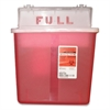 "Covidien 5 Qt Sharps Container - 1.25 gal Capacity - Rectangular - 11"" Height x 10.8"" Width x 4.8"" Depth - Red"