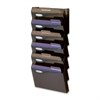 "Rubbermaid Classic Wall File System Set - 7 Compartment(s) - 29.3"" Height x 13"" Width x 4"" Depth - Wall Mountable - Smoke - 7 / Set"
