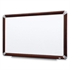 "3M Mahogany Frame Melamine Dry-erase Boards - 48"" (4 ft) Width x 36"" (3 ft) Height - White Melamine Surface - Mahogany Aluminum Frame - Rectangle - 1 Each"