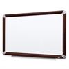 "3M Mahogany Frame Melamine Dry-erase Boards - 72"" (6 ft) Width x 48"" (4 ft) Height - White Melamine Surface - Mahogany Aluminum Frame - Rectangle - 1 Each"