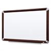 "3M Mahogany Frame Melamine Dry-erase Boards - 96"" (8 ft) Width x 48"" (4 ft) Height - White Melamine Surface - Mahogany Aluminum Frame - Rectangle - 1 / Each"