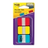 "Post-it Durable Index Tab - 36 Write-on Tab(s) - 1.50"" Tab Height x 1"" Tab Width - Red, Blue, Yellow Tab(s) - 1 Pack"