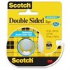 "Scotch Double-Sided Removable Tape - 0.75"" Width x 16.67 ft Length - 1"" Core - Removable, Photo-safe, Glossy - Dispenser Included - Handheld Dispenser - 1 Roll - Clear"