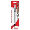 Pentel R.S.V.P Ballpoint Stick Pen - Medium Point Type - 1 mm Point Size - Refillable - Black - Clear Barrel - 1 / Pack
