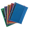 "Oxford Zipper Binder Pockets - 7.50"" x 10.50"" Sheet - Ring Binder - Assorted - Vinyl - 1 Each"