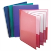 "Oxford Wire Binding Pocket Folder - Letter - 8 1/2"" x 11"" Sheet Size - 200 Sheet Capacity - 8 Pocket(s) - Poly - Assorted - 1 Each"