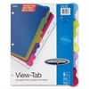 "Wilson Jones View-Tab Transparent Dividers - 5 x Divider(s) - 5 - 5 Tab(s)/Set - 9"" Divider Width - Letter - 0.33"" Width x 0.43"" Length - 3 Hole Punched - Polypropylene Divider - Multicolor - 5 / Set"