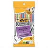 BIC Top Advance Mechanical Pencil - #2 Lead Degree (Hardness) - 0.7 mm Lead Diameter - Assorted Barrel - 10 / Pack