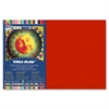 "Tru-Ray Construction Paper - 12"" x 18"" - 76 lb Basis Weight - 1 / Pack - Scarlet - Sulphite"