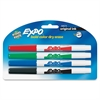 Expo Dry Erase Marker - Fine Point Type - Point Point Style - Red, Black, Blue, Green - 4 / Pack