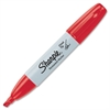 Sharpie Permanent Marker - Chisel Point Style - Red Alcohol Based Ink - 1 Each
