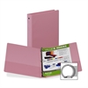 "Samsill Flexible Hinge 3-Ring Value Storage Binder - 1"" Binder Capacity - Letter - 8 1/2"" x 11"" Sheet Size - 3 x Round Ring Fastener(s) - 2 Inside Front Pocket(s) - Vinyl - Pink - Recycled - 1 / Each"
