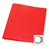 """28-Gauge Poly 3-Ring Binder - 1"""" Binder Capacity - Letter - 8 1/2"""" x 11"""" Sheet Size - 3 x Round Ring Fastener(s) - Poly - Red - 1 / Each"""