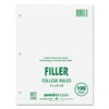 "Roaring Spring Recycled Filler Paper - 100 Sheets - Printed - 15 lb Basis Weight - Letter 8.50"" x 11"" - White Paper - Recycled - 1 / Pack"
